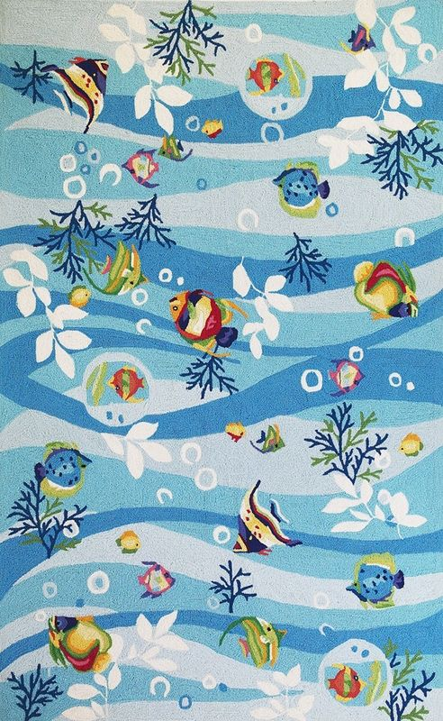 Blue Tropical Fish Rug - so colorful!