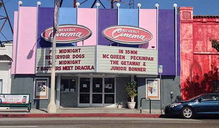 The New Beverly Cinema located on Beverly and La Brea.