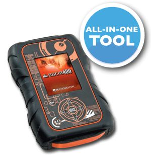 The Socio 400 allows you to do what any ordinary tool can do with finding, deleting and managing fault codes along with the use of the 320X240 TFT LCD screen allowing navigation through the car, truck or bikes ECU.