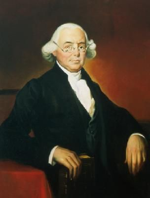 James Wilson (1742-1798) was elected twice to the Continental Congress.  He signed the United States Declaration of Independence and was a major force in drafting the U.S. Constitution.  He was one of the original six justices appointed by George Washington to the Supreme Court.