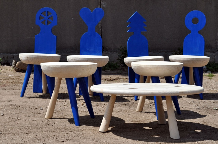 romanian blue chairs