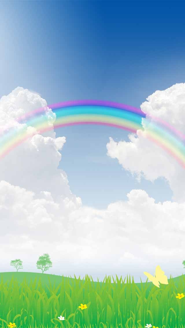 Rainbow Clouds Background Clipart Wallpaper Backgrounds