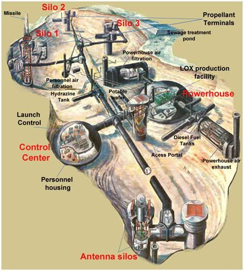 Best Places Abandoned Missile Bases Silos Images On Pinterest - Active us missile silos map
