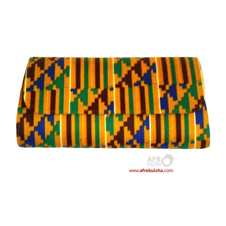 kente cloth afro print clutch