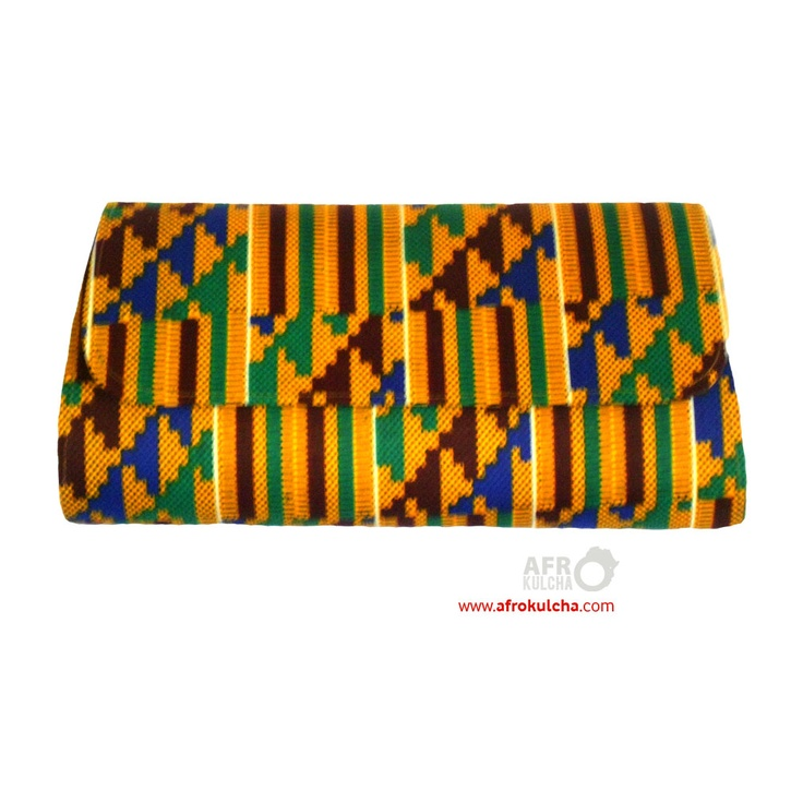 kente cloth afro print clutch