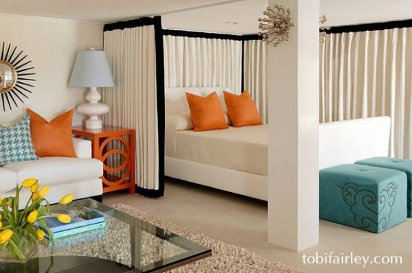 Creative solution for small space (no sacrifice of style!)  Design: Tobi Fairley