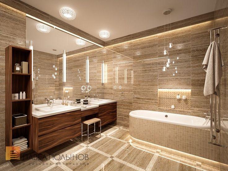 Фото интерьер ванной комнаты из проекта «Дизайн интерьера трехкомнатной квартиры 127 кв.м., ЖК «Парадный квартал», современный стиль»