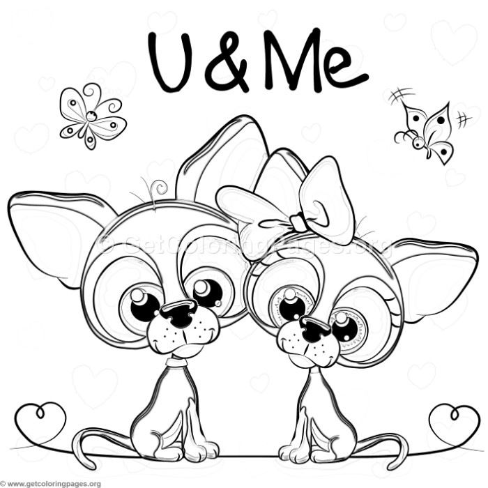 Free To Download You And Me Cute Dogs Coloring Pages Coloring