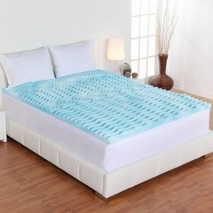 Authentic Comfort Orthopedic Foam Mattress Topper Pad Blue Twin Bed Size