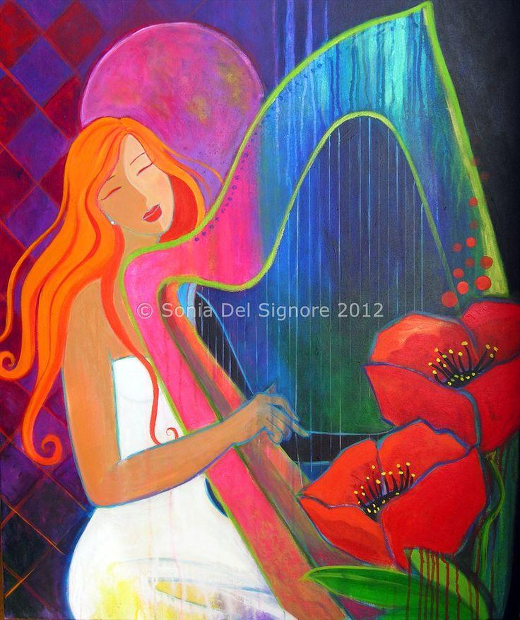''LA SOLISTE'' acrylic painting by Sonia Del Signore