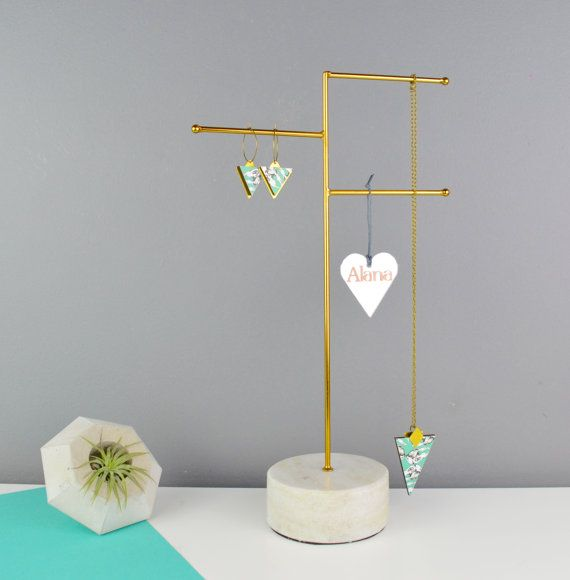Best 25 jewellery stand ideas only on pinterest jewelry for Sawyer marble jewelry stand