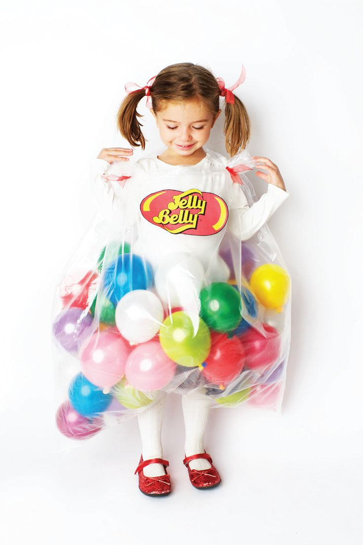 Jelly Belly DIY Halloween costume with balloons for kids!