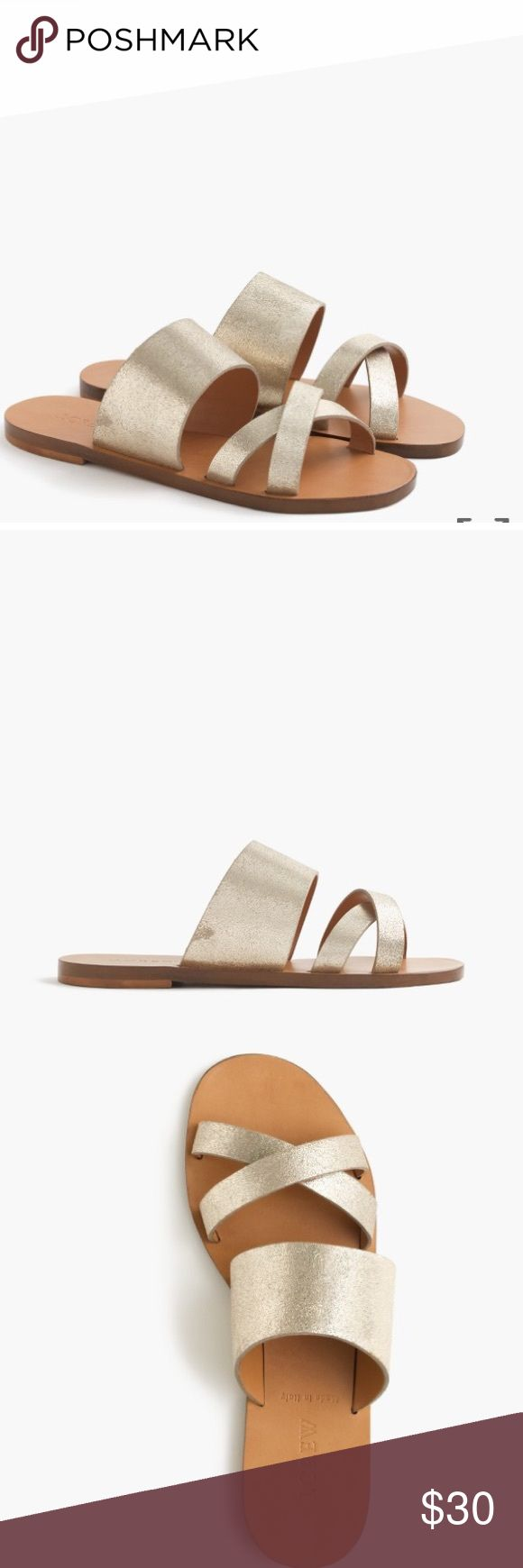 J.Crew Bali Metallic Slides 10 These slides are brand new without tags from J. Crew and would be the perfect addition to your summer wardrobe. J. Crew Shoes Sandals