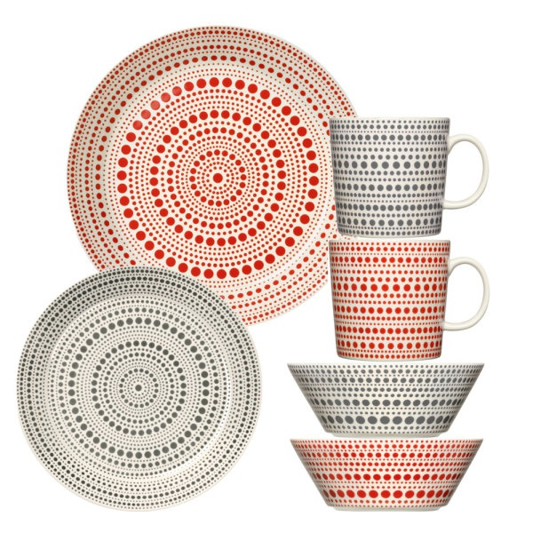 Pretty dotted dishes