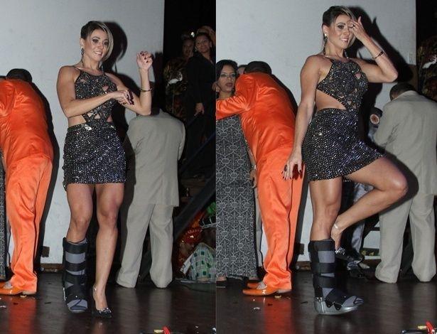 Após confusão em boate, ex-BBB Fabiana samba com o pé imobilizado #BBB, #Confusão, #Festa, #Fotos http://popzone.tv/apos-confusao-em-boate-ex-bbb-fabiana-samba-com-o-pe-imobilizado/