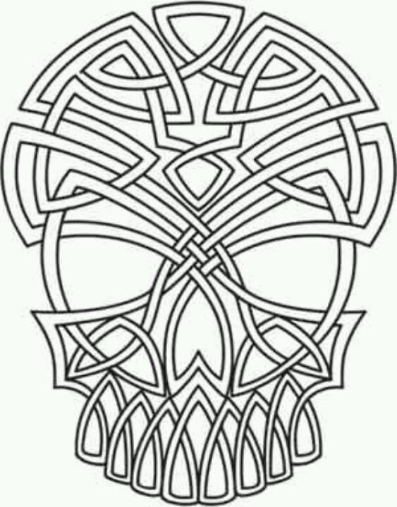 celtic skull mandala kleurplaten kleurplaten schedel