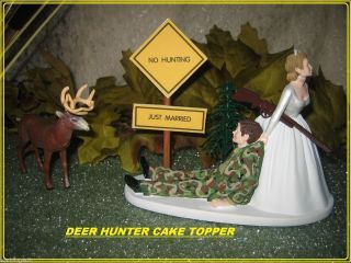camouflage wedding invitations for deer hunters | Redneck Wedding Camo Deer Gun Hunter Hunting Cake Topper