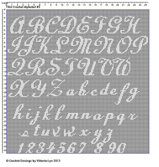 Ravelry: FREE Filet crochet Alphabet 3 pattern by Viktoria-Lyn