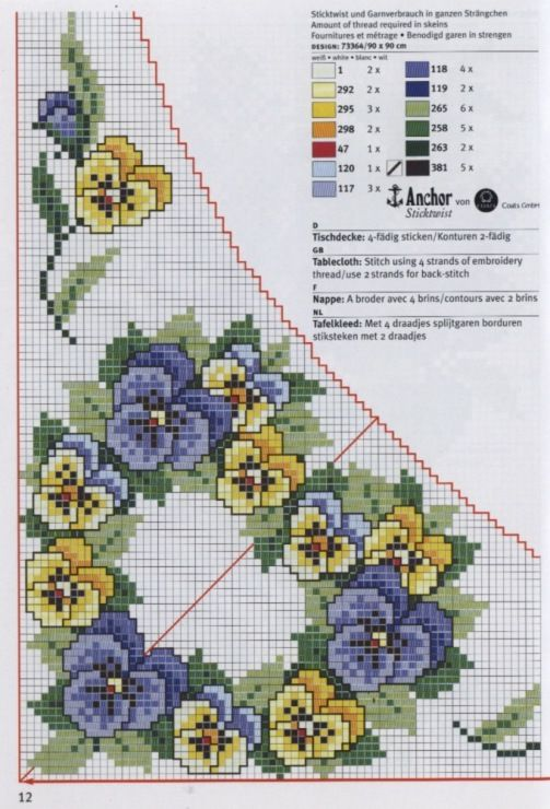 Cross-stitch Pansy Tablecloth ...    Gallery.ru / Фото #51 - rico3 - vira-pagut