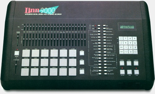 The Linn 9000. Introduced 1985. This was the forefather of the Akai MPC...