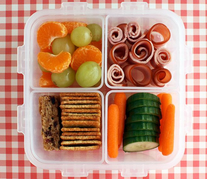 snack attack bite sized veggies rolls of ham and mandarin segments make this an easy lunch to. Black Bedroom Furniture Sets. Home Design Ideas
