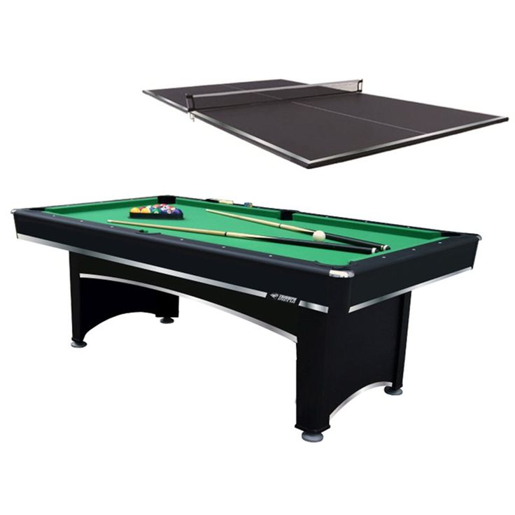 Have to have it. Triumph Sports 7 ft. Billiard Table with Bonus Table Tennis Top - $596.98 @hayneedle.com