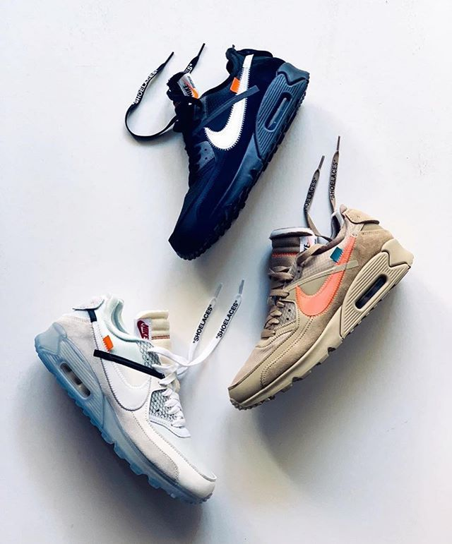 Air Max 90 x Off White Black Available on icecrew.es for