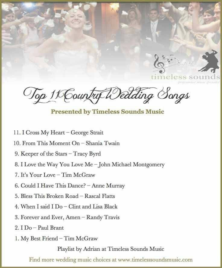 Trying to decide on processional song our special day for Country wedding processional songs