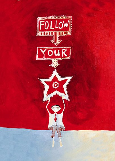 Follow your Star! A delightful card by Crispin Korschen of Wellington, NZ. Available through stockists NZ-wide and online from www.imagevault.co.nz