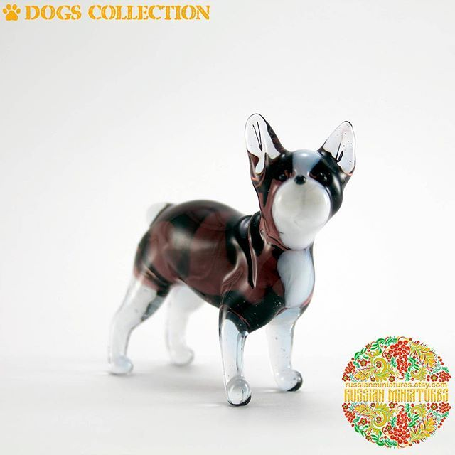 Color Glass French Bulldog Figurine.  Check out here: https://goo.gl/UMaLSi Dogs collections: https://goo.gl/HeS43f -------------- Follow us @russianminiatures if you love glass figurines! Made in  Russia St. Petersburg.Worldwide shipping. Update pictures everyday ! -------------- Follow us on: - https://goo.gl/NKk858 -------------- #russianminiatures #handmade