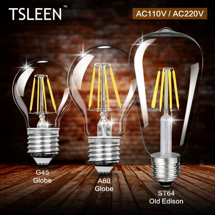 TSLEEN E27 4W 8W 12W 16W Led Light Lamp Edison Retro Filament COB LED Bulb Vintage Candle Lampada Led G45 A60 ST64 AC 110V 220V  #Affiliate