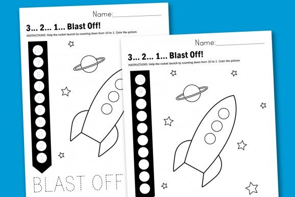 Rocket Countdown Free Printable Worksheet via @PagingSupermom.com ...