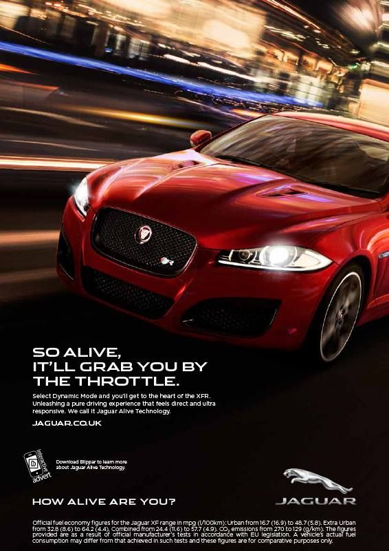 Explore the new #Jaguar campaign with Blippar - how Alive are you?