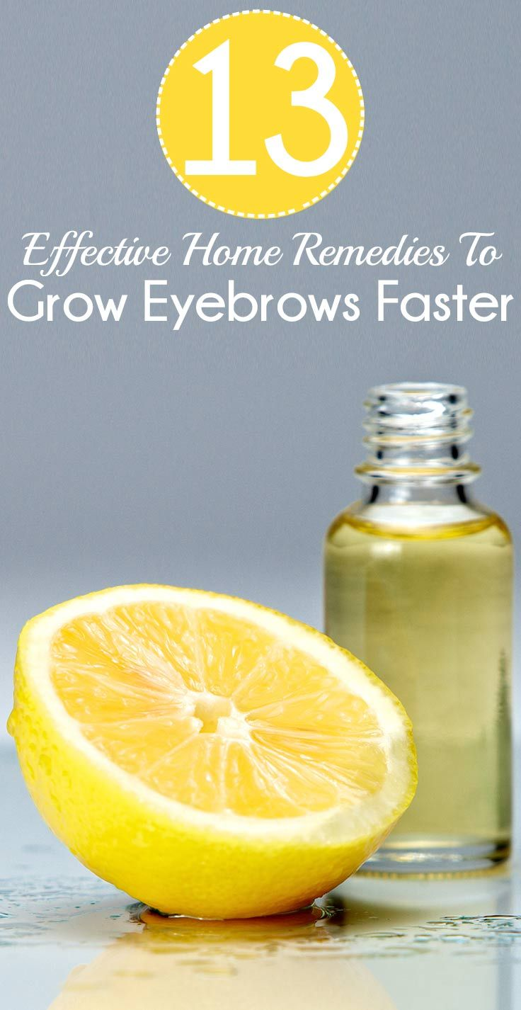 13 Effective Home Remedies To Grow Eyebrows Faster