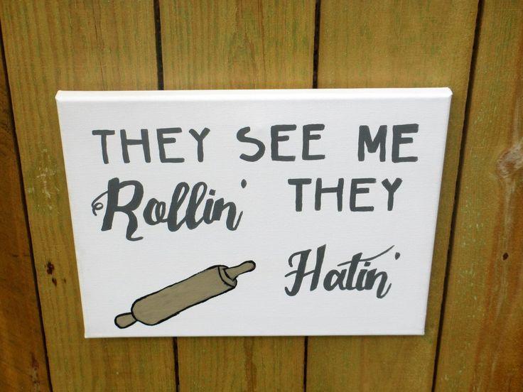 Funny Rap Lyrics for Kitchen, Custom Kitchen Art, Puns for Kitchen, Rap Lyrics art, Humorous Kitchen Art by MississippiMolly on Etsy More