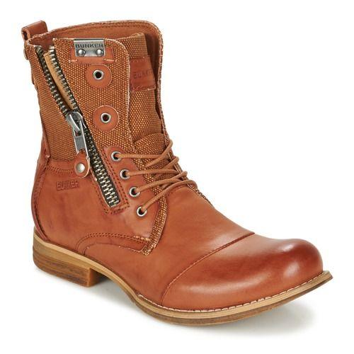 Bunker TARA Marron - Livraison Gratuite avec Spartoo.com ! - Chaussures Boots Homme 99,99 €