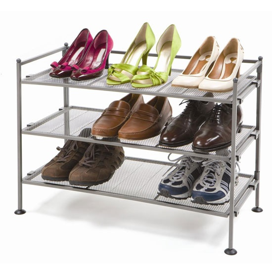 3tier mesh utility shoe rack pewter keep your shoes organized
