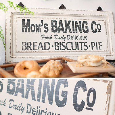 Our baking sign is a vintage bakery sign that brings the sweet aromas of mom's…