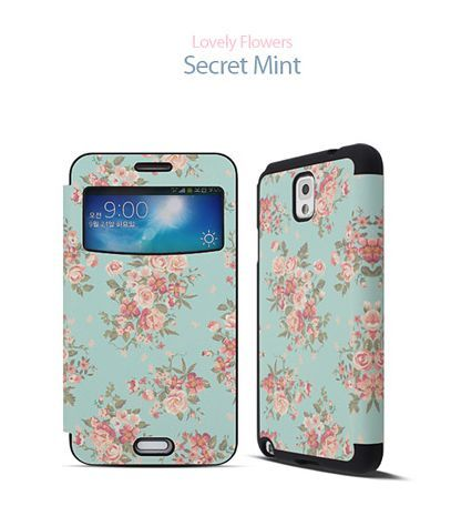 Lovely Flowers Magnetic Lock View Cover for LG G2