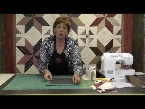 Jenny Doan shows how to make the Big Star #Quilt - a project much easier than it looks. Uses #layercakes