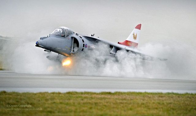 Harrier GR9 Lands at RAF Cottesmore Following Retirement from Service, via Flickr.