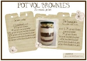 Pot vol brownies