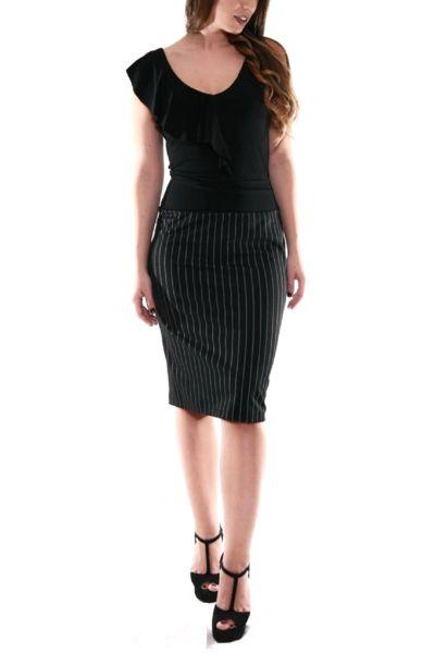 conDiva Dark Blue Pencil Skirt | Elegant Tango Outfits  #pencilskirt #tangoskirt #elegant #condiva #argentine tango