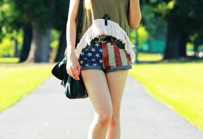short con bandera de EE.UU
