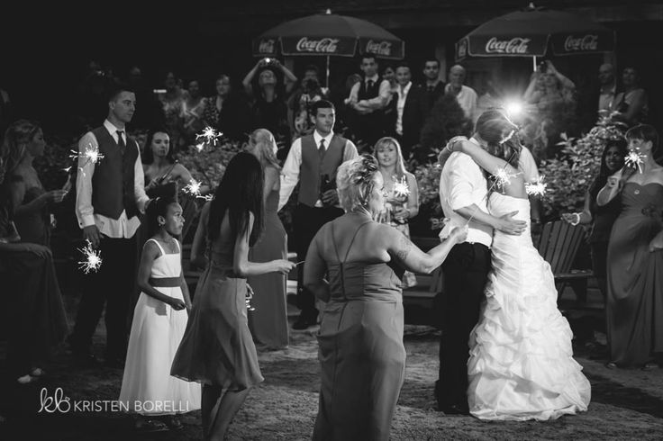 Bride and Groom First Dance with Sparklers  | Kristen Borelli Photography | Vancouver Island Weddings | Patterson Kaye Lodge Wedding Photography | Cottage Weddings
