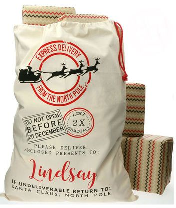 You'll love these personalized Christmas santa's sacks for friends and  family.