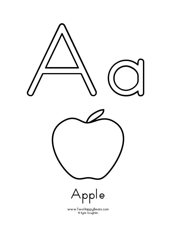 Free Printable Coloring Page For The Letter A With Upper And