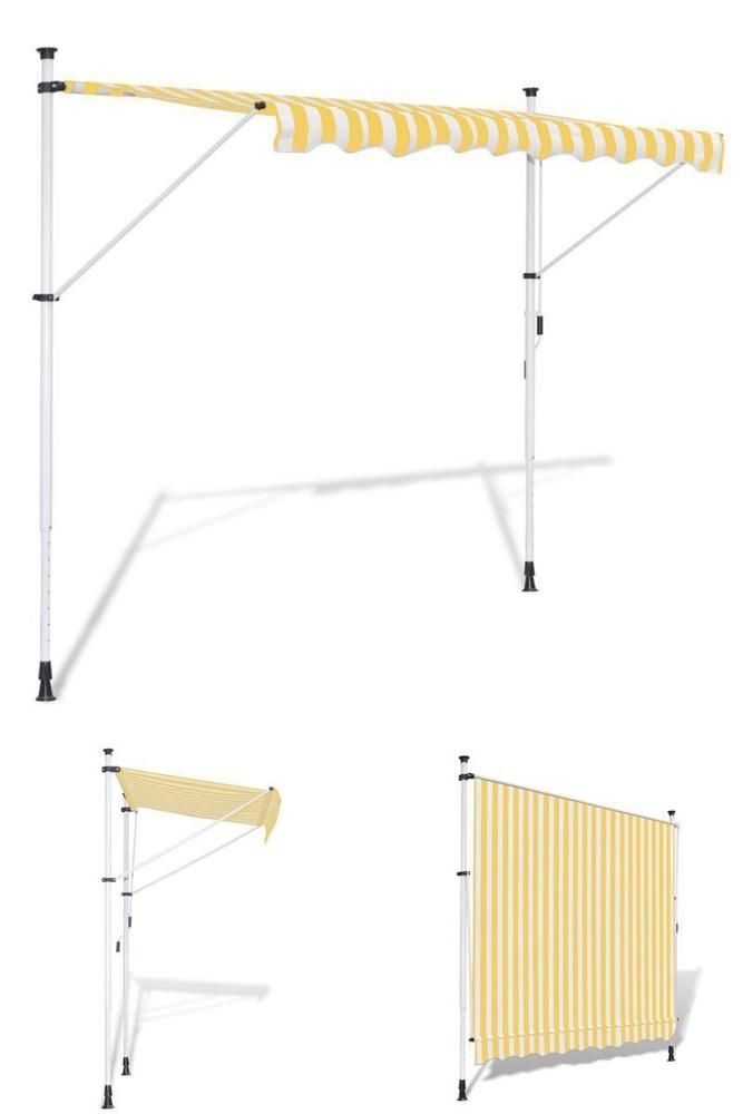 Manual Awning Canopy 3 5M Adjustable Outdoor Sunshade Window