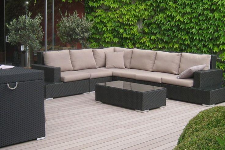Terras met vloer van composiet - Esthec Terrace terrasdelen | UW-tuin.nl