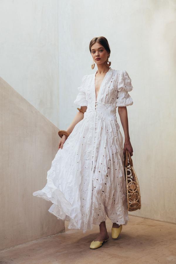 b2f7f21fe119 Willow Dress - Off White in 2019 | Circle Bags | Fashion, Fashion ...